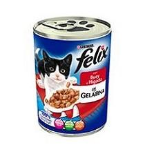 Latas de buey e hígado para gatos