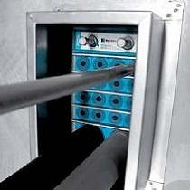 Accesorios para la instalación ignífuga de varias tuberías de plástico
