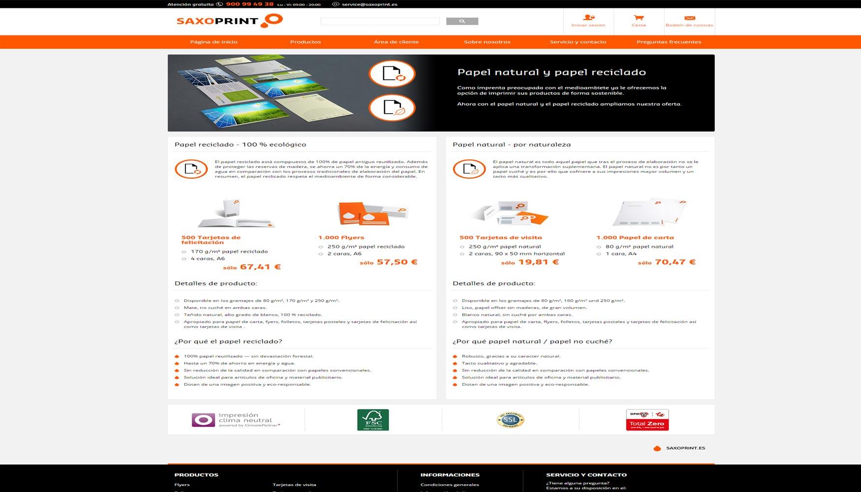 Saxoprint ampl a su cartera y protege los recursos naturales industria gr fica - Oficina virtual industria ...