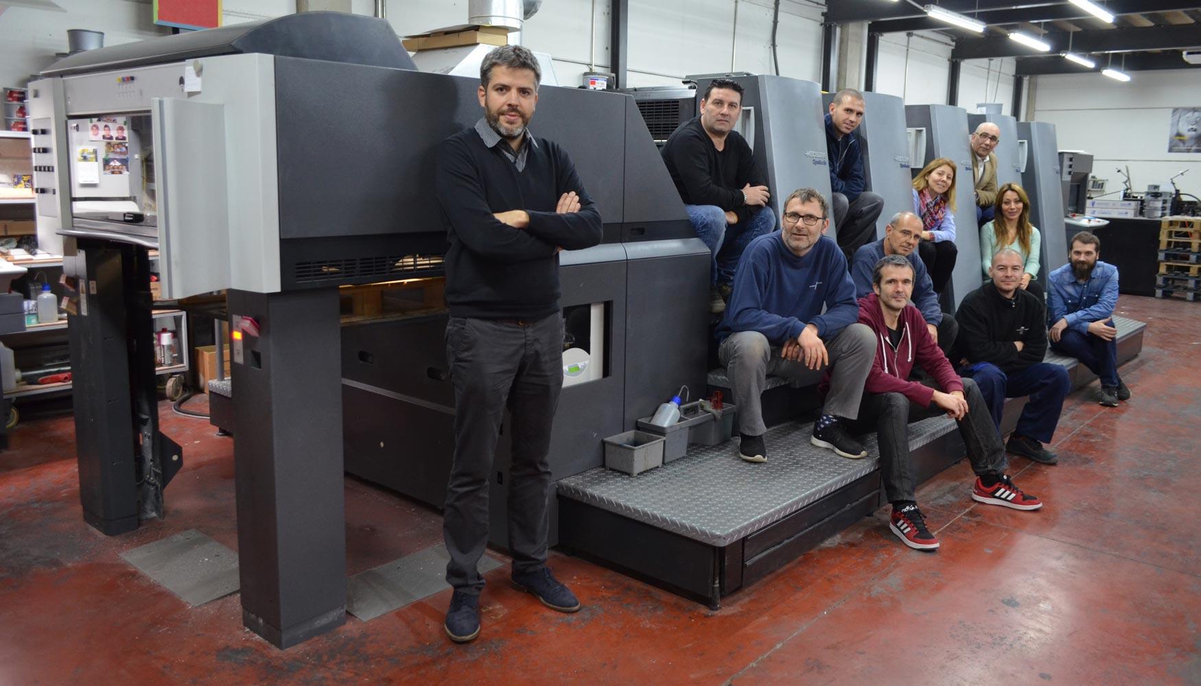 Black horse machinery vende una 5 colores heidelberg speedmaster industria gr fica - Oficina virtual industria ...
