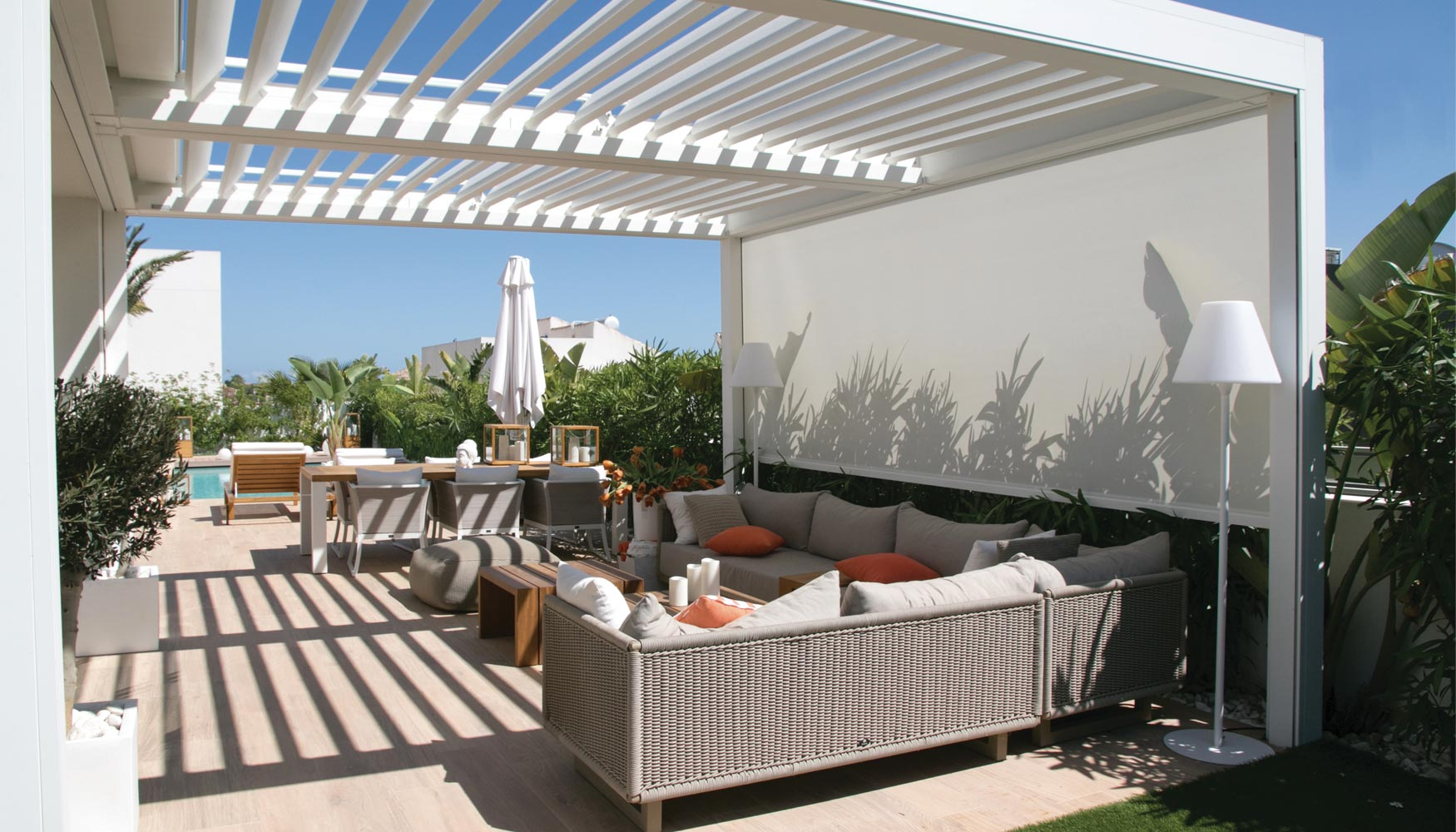Brustor el poder de un pionero protecci n solar - Cubierta para terraza ...