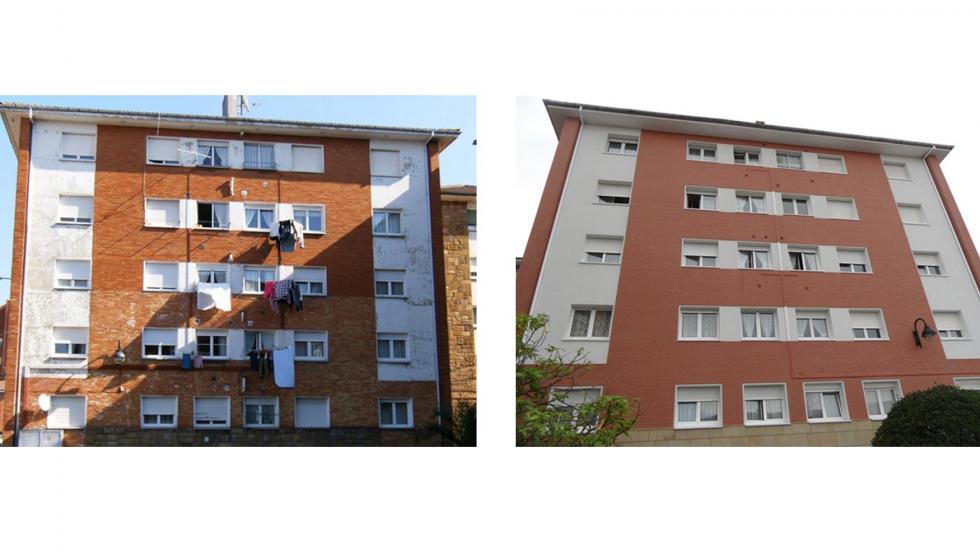 Rehabilitaci n eficiente de una fachada con ladrillo for Fachada de ladrillo