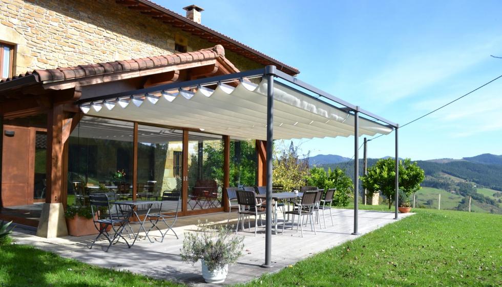 Estructuras de aluminio para terrazas fabulous prgola - Estructuras para terrazas ...
