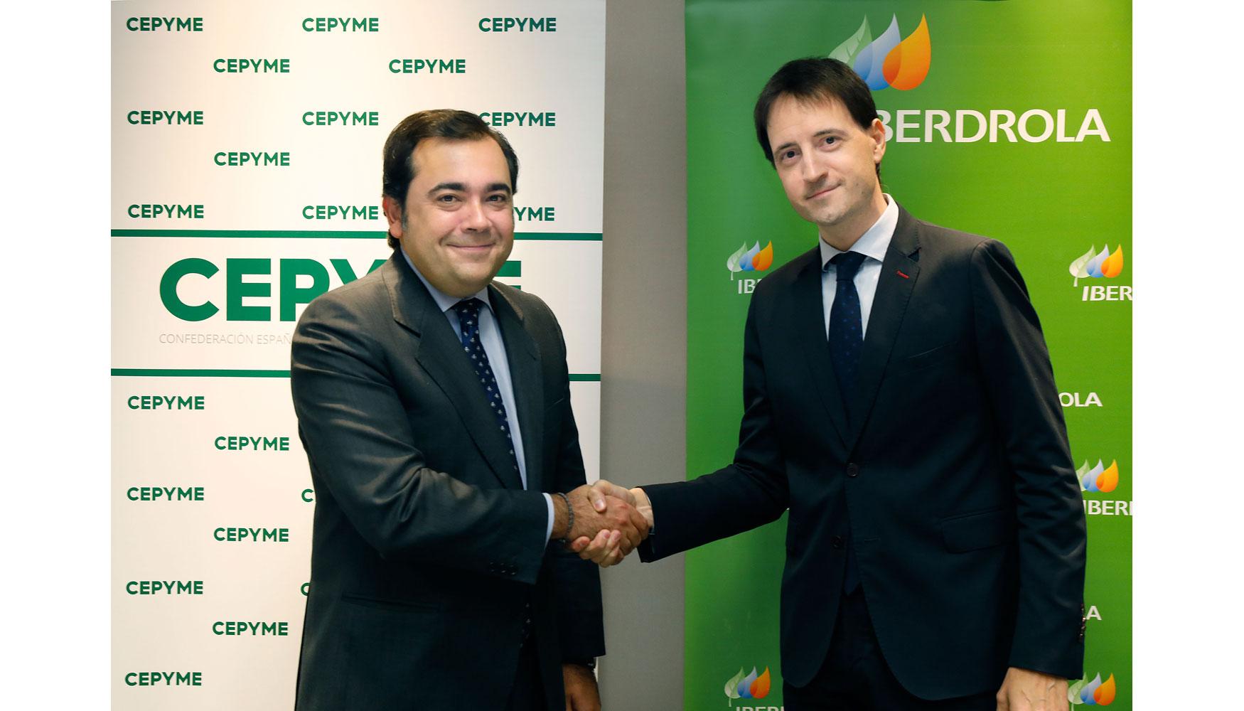 Iberdrola y cepyme suscriben un convenio que proporcionar for Oficina iberdrola madrid