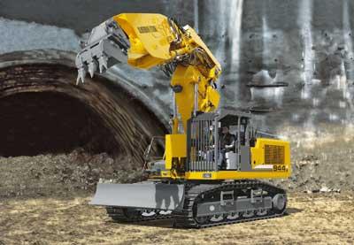 Экскаватор R 934 B Litronic разработан специально для применения в подземном строительстве