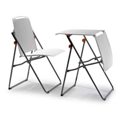 Ofiprix presenta foldy la silla que se convierte en mesa for Silla que se convierte en mesa