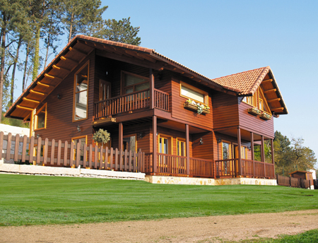 un modelo clsico de casa de madera
