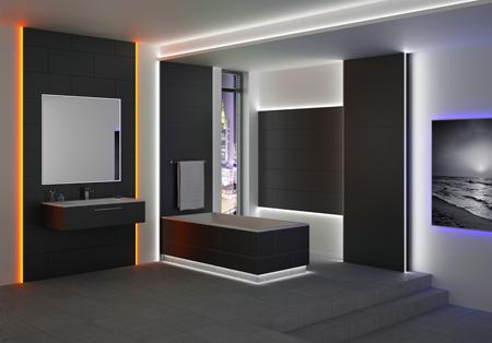 Schl ter systems presenta su nueva gama de perfiles con - Iluminacion indirecta led ...