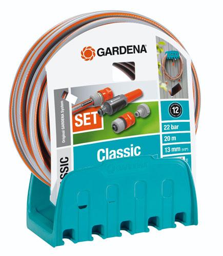 support for hose and support mural of gardena hardware. Black Bedroom Furniture Sets. Home Design Ideas
