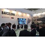 Foto de Forcadell, coexpositor del stand Barcelona-Catalonia en Expo Real 2015 (Múnich)