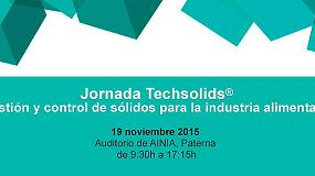 Foto de Techsolids organiza una jornada sobre la gestión y control de sólidos para la industria alimentaria