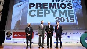 Foto de Molecor recibe el premio a la 'Mejor pyme del año' en los premios Cepyme