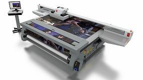 Foto de Canon muestra en el stand de Ribera Digital en Graphispag 2017 su gama de impresoras planas Océ Arizona