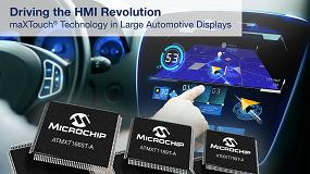Foto de Controladores de pantalla táctil maXTouch con pantalla de gran tamaño para el automóvil