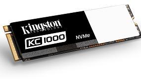 Foto de Kingston SSD KC1000 NVMe PCIe, dos veces más rápido que los SSD basados en la interfaz SATA