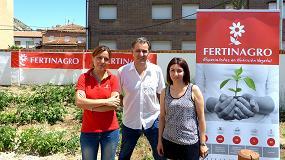 Foto de Fertinagro dona fertilizantes para los huertos de los colegios de Utrillas