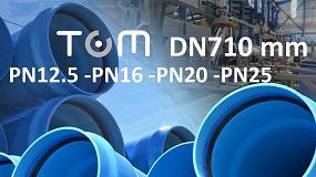 Foto de Molecor amplía su gama y lanza al mercado la Tubería TOM de PVC Orientado DN710 mm