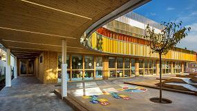 Foto de Lunawood de Gabarró viste el nuevo edificio sostenible del Lycée Français de Barcelona