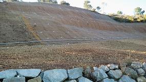 Foto de Sorigué aplica residuos orgánicos para la reparación de un muro de escollera