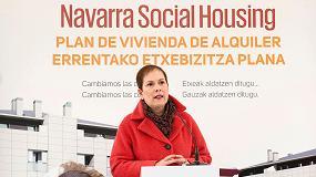 Foto de La presidenta Uxue Barkos da inicio en Mutilva a las primeras obras del programa Navarra Social Housing
