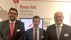 Foto de El equipo de Roto Frank España presenta Roto NX en su stand de Fensterbau, Núremberg, bajo el lema 'Mejorando lo Bueno'
