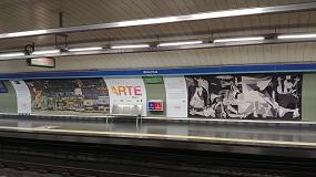 Foto de Atocha se convierte en Estación de Arte gracias a las tintas UVgel ultrarresistentes de Canon
