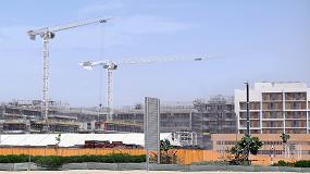 Foto de Dos grúas Potain participan en la construcción de un proyecto residencial sostenible en Abu Dhabi