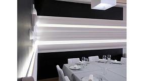 Foto de Molduras e iluminación Led logran dar un estilo futurista al nuevo restaurante Tasta'm