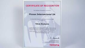Foto de Toyota galardona a Ficosa con el premio al Análisis de Valor