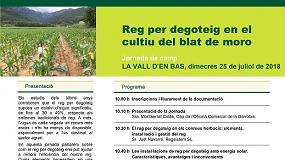 Foto de El 25 de julio, en Girona, jornada sobre riego por goteo en el cultivo del maíz