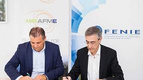 Foto de Ambilamp/Ambiafme y Fenie suscriben un acuerdo de colaboración para fomentar el reciclaje de aparatos eléctricos entre los instaladores