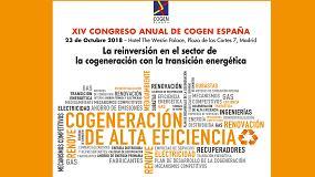 Foto de Cogen España avanza el programa de su XIV Congreso Anual