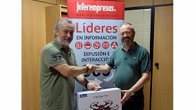 Foto de Enrique Ejarque, de la empresa Hejar, ganador del sorteo del Informe de la Máquina-Herramienta