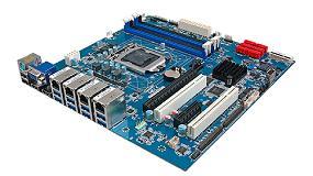 Foto de Placa base Micro ATX industrial para procesadores Intel Core de séptima generación