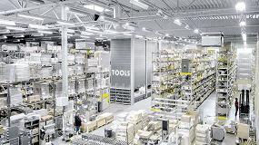 Foto de Cuatro armarios verticales Logimat para el distribuidor industrial Tools Finland Oy