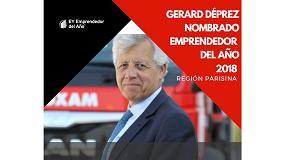 Foto de Gérard Déprez, presidente del Grupo Loxam, premiado como emprendedor del año 2018 para la región Ile de France