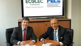 Foto de Ecolec y FECE firman el protocolo para la gestión del RAEE procedente de la venta online
