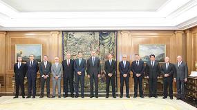 Foto de Su Majestad el Rey recibe a la Junta Directiva de Anefhop