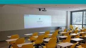 Foto de Centro Universitario Villanueva, innovación visual en proyección e interactividad