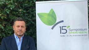 Foto de Carlos León, coordinador del 15º Symposium de Sanidad Vegetal y Vicepresidente del COITAND