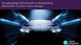 Foto de El administrador de matrices LED de Maxim potencia la iluminación matricial