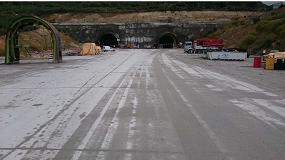Foto de Soluciones Sika en la construcción de las soleras de los Túneles de la Canda