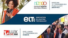 Foto de ELT muestra sus soluciones de conectividad en las ferias 'Smart City Expo World Congress' y 'Lux Live'
