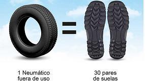Foto de ¿Sabías que se pueden usar neumáticos usados para fabricar suelas de zapatos?