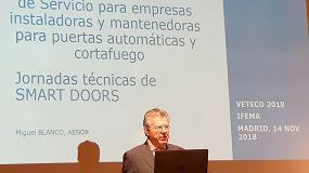 Foto de Aenor presenta las novedades de la Marca Aenor SI para empresas instaladoras y mantenedoras de puertas