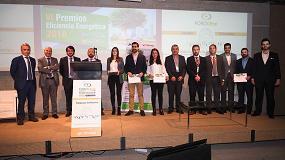 Foto de Iberfruta Muerza, Hotel Rupit y Cristina Novillo, ganadores de los VI Premios Eficiencia Energética A3e - El Instalador