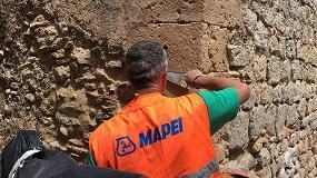 Foto de El COAATEEEF presenta a sus colegiados los trabajos de restauración de las antiguas murallas de Dalt Vila de manos de Mapei