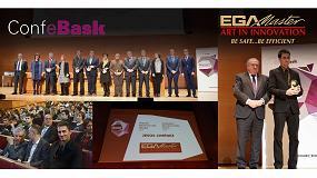 Foto de Confebask premia a EGA Master por su compromiso con la Formación Profesional