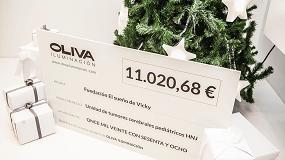 Foto de Oliva Iluminación aporta 11.000 € para luchar contra el cáncer infantil