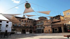 Foto de Toldos Lucas interviene en el cubrimiento de una plaza de Fuentes de Ebro
